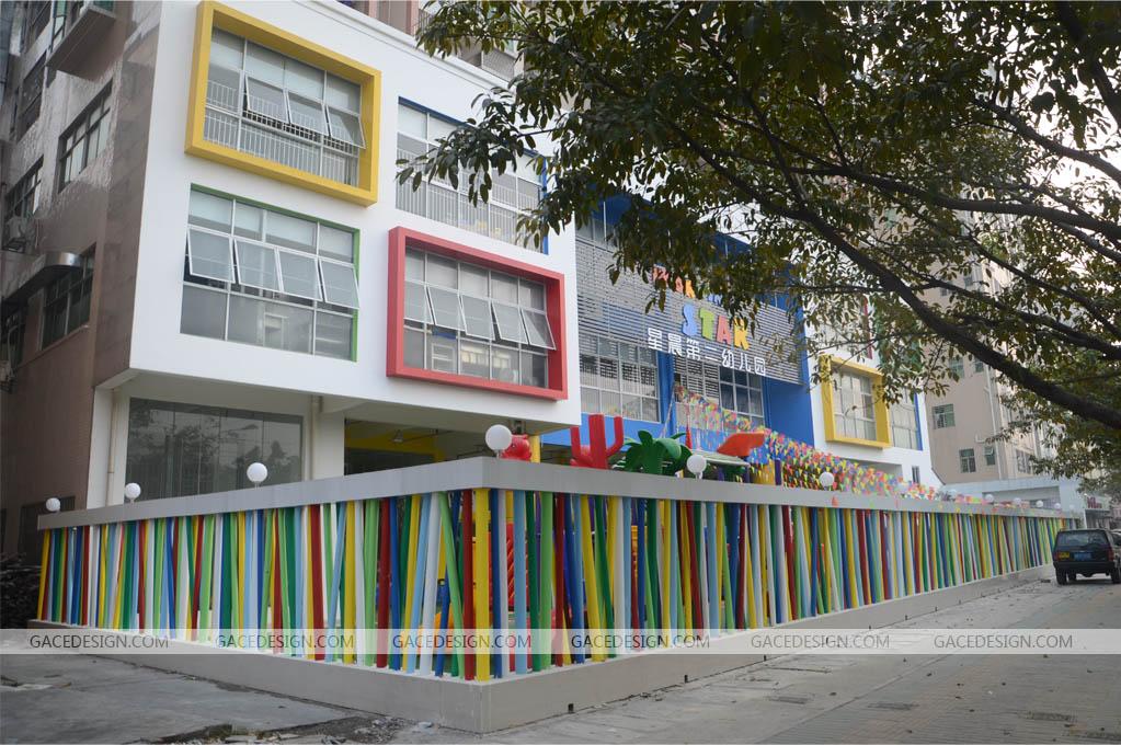 又为城市街景增色,并凸显幼儿园办园理念,彰显园所个性.