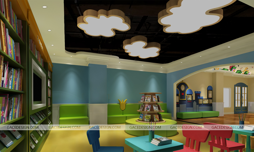 【早教中心培訓機構空間設計案例】深圳市LEOOOS樂獅文創  城市: 深圳 工作: 室內設計,裝修 設計:深圳市集合裝飾設計有限公司 案例簡介:以兒童元素加部分現代時尚為設計方向,充滿想象的空間設計,造型色調各異的教室迎合了各個年齡階段的學生心理。優秀的設計就是更好的商業價值。 案例品牌簡介:leooos樂獅文創是一家國際兒童成長中心,源于臺灣,以創意和快樂作為出發點,結合各年齡段兒童生理和心理特征,提供少兒美術和少兒英語教學課程。  【少兒空間設計幼兒園設計早教中心設計少兒美術空間設計少兒培訓機